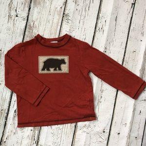 🌿Janie and Jack Boy 3T Long Sleeved Bear T-shirt